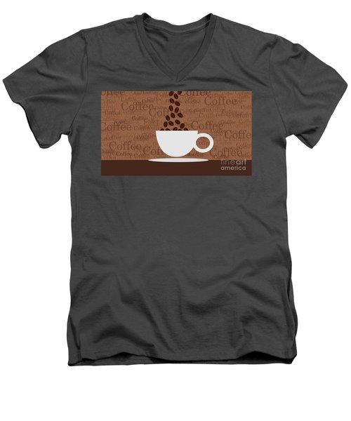 Coffee #3 Men's V-Neck T-Shirt