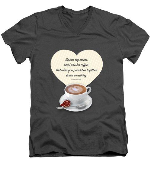 Coffee And Cream Men's V-Neck T-Shirt