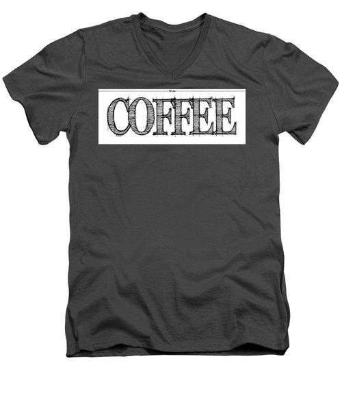 Coffee Fill Line Mug 2 Men's V-Neck T-Shirt