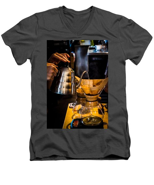 Coffee First Men's V-Neck T-Shirt