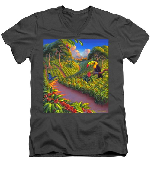 Coffee Plantation Men's V-Neck T-Shirt