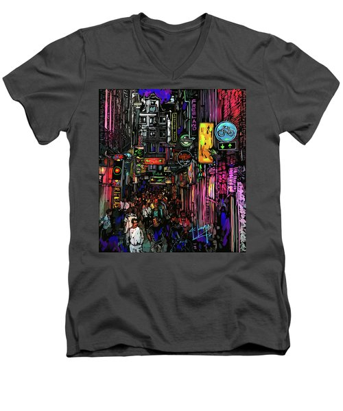 Coffee Shop, Amsterdam Men's V-Neck T-Shirt