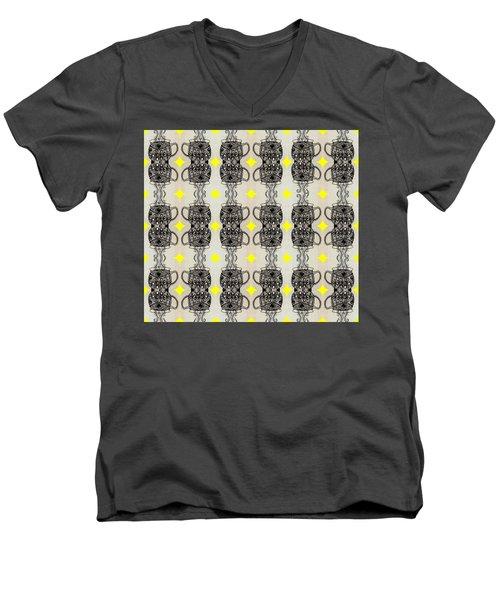 Coffee Time Patttern Men's V-Neck T-Shirt