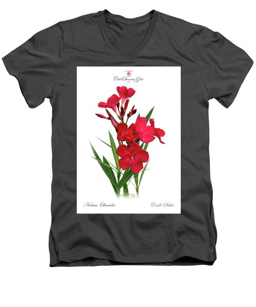 Cog  Nerium Oleander Emile Sahut Men's V-Neck T-Shirt