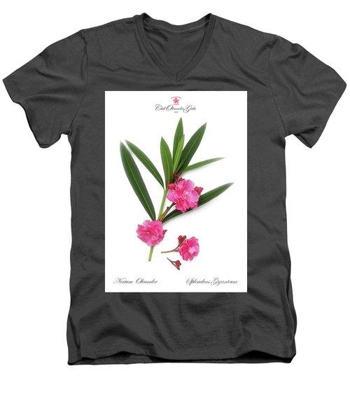 Cog  Nerium Oleander Splendens Giganteum Men's V-Neck T-Shirt