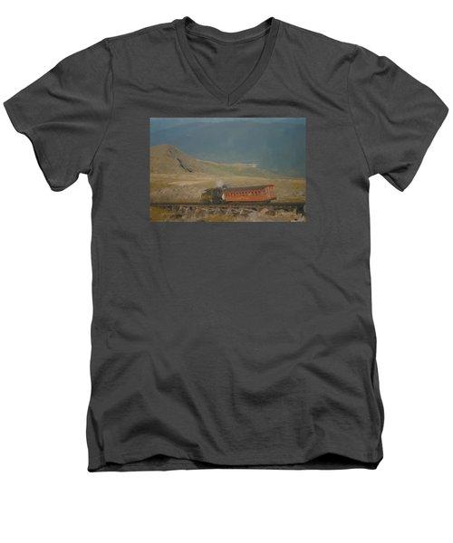 Cog Railway Mount Washington Men's V-Neck T-Shirt