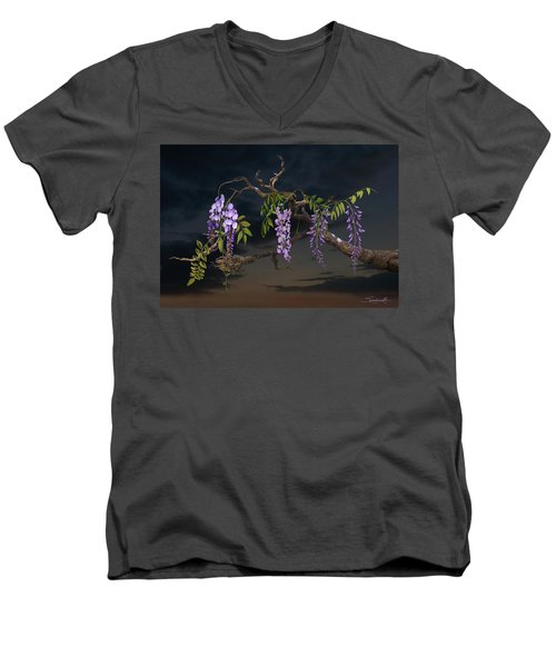 Cogan's Wisteria Tree Men's V-Neck T-Shirt