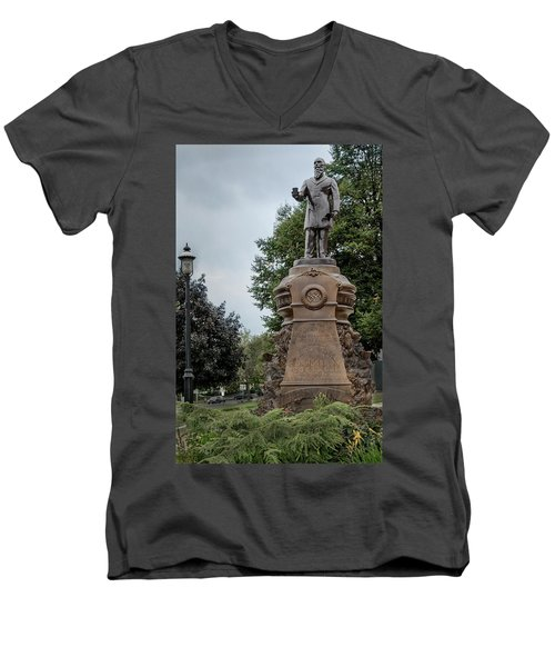 Cogswell Fountain Rockville Vernon Connecticut Men's V-Neck T-Shirt