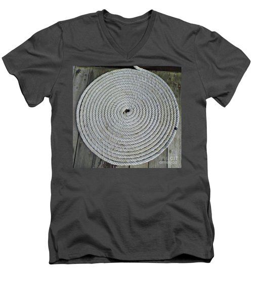Coiled By D Hackett Men's V-Neck T-Shirt