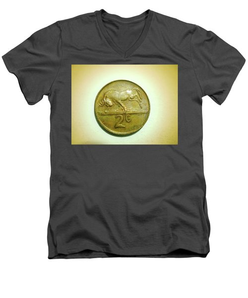 Men's V-Neck T-Shirt featuring the photograph Coin Series -  by Beto Machado
