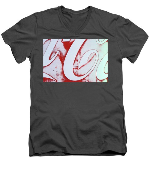 Men's V-Neck T-Shirt featuring the photograph Coke 3 by Laurie Stewart