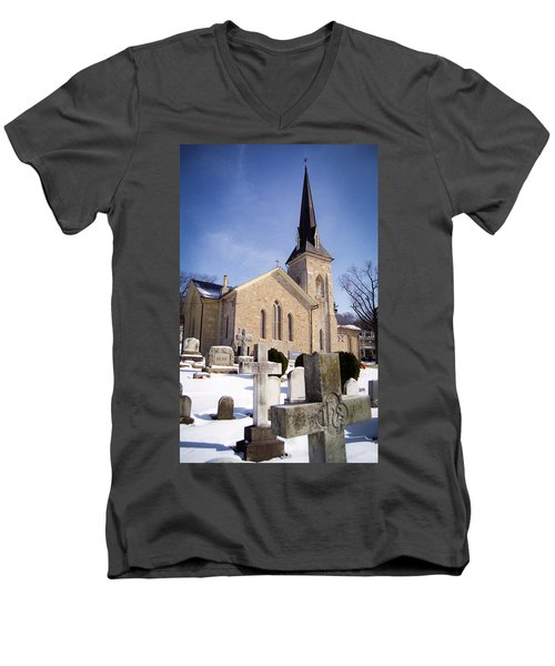 Cold Stone Service Men's V-Neck T-Shirt