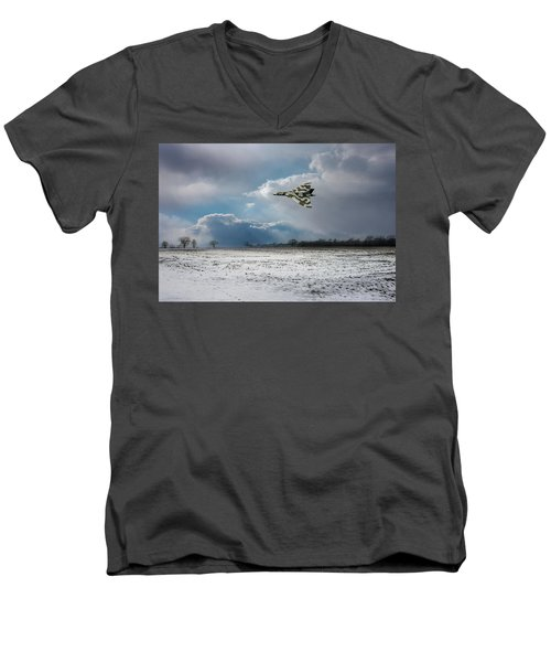 Men's V-Neck T-Shirt featuring the photograph Cold War Warrior by Gary Eason