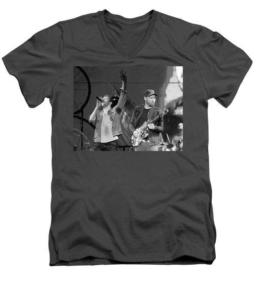 Coldplay 14 Men's V-Neck T-Shirt by Rafa Rivas