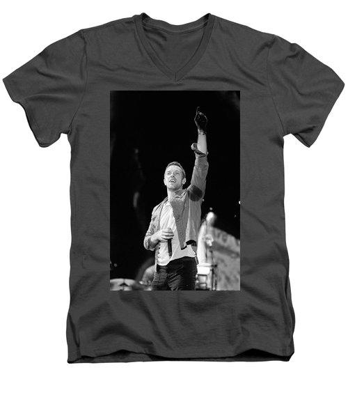 Coldplay 16 Men's V-Neck T-Shirt by Rafa Rivas
