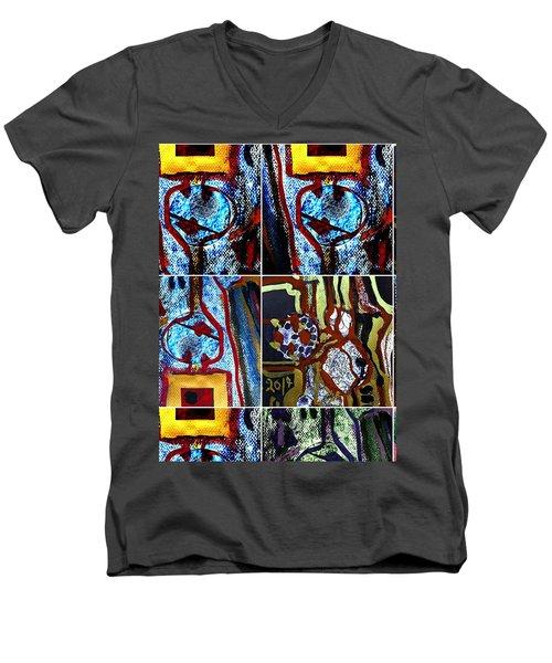 Collage-1 Men's V-Neck T-Shirt