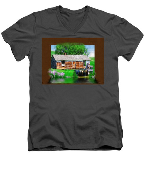 Men's V-Neck T-Shirt featuring the photograph Collage by Susan Kinney