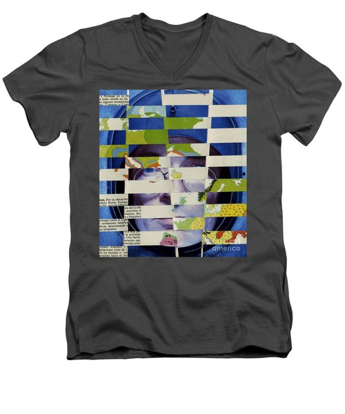Collage Verso Men's V-Neck T-Shirt