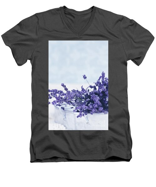 Collection Of Lavender  Men's V-Neck T-Shirt