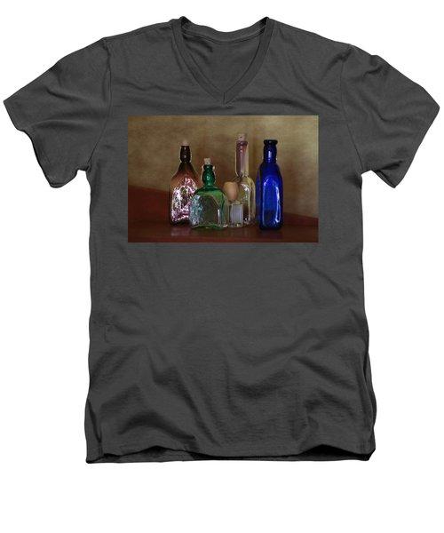 Collection Of Vintage Bottles Photograph Men's V-Neck T-Shirt
