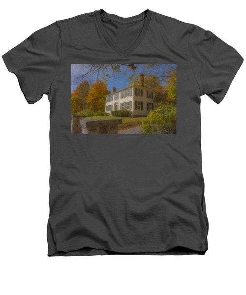 Colonial House On Main Street, Easton Men's V-Neck T-Shirt