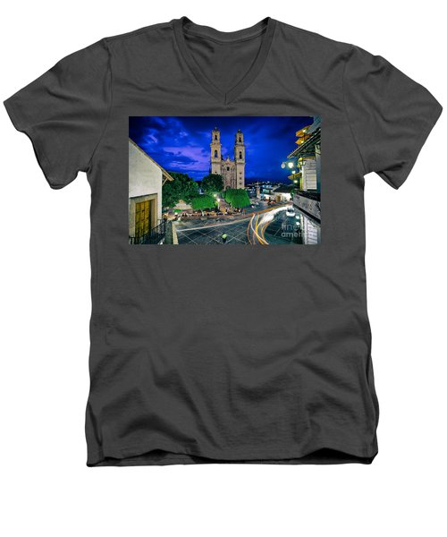 Colonial Town Of Taxco, Mexico Men's V-Neck T-Shirt