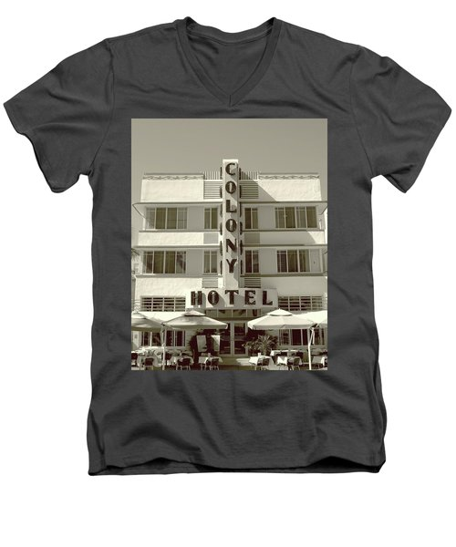 Colony Hotel South Beach Men's V-Neck T-Shirt