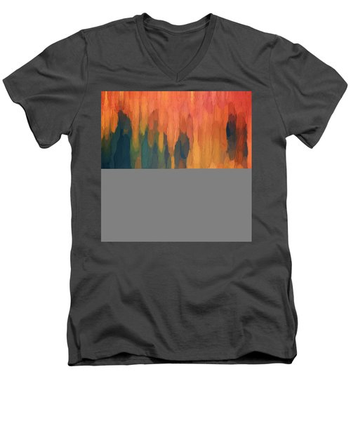 Color Abstraction L Sq Men's V-Neck T-Shirt