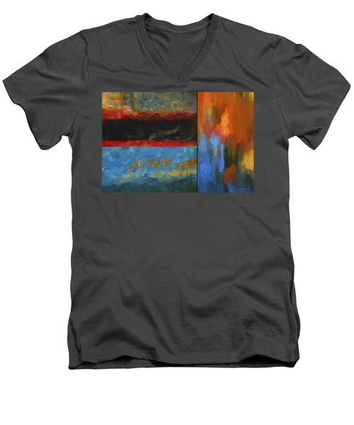 Color Abstraction Li  Men's V-Neck T-Shirt