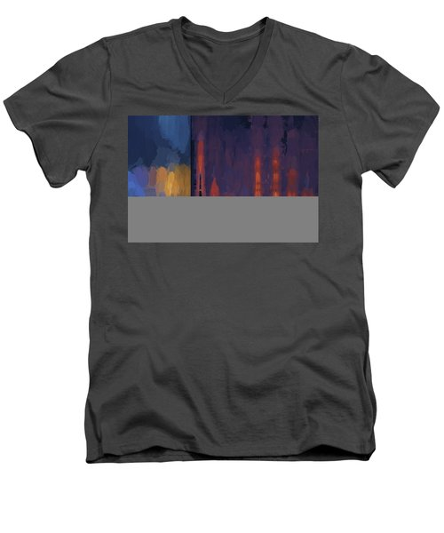 Color Abstraction Lii Men's V-Neck T-Shirt