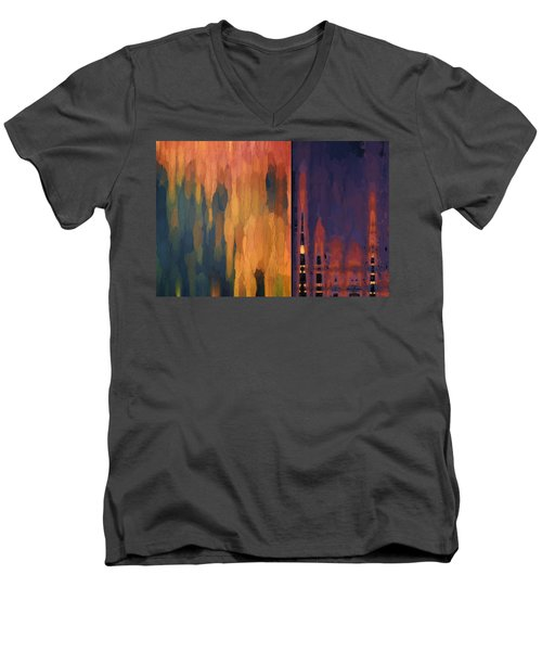 Color Abstraction Liv Men's V-Neck T-Shirt