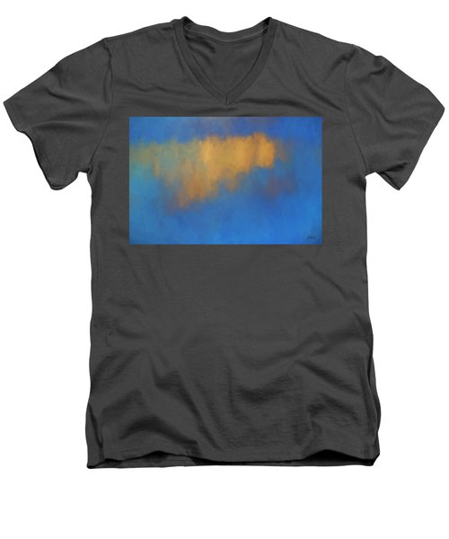 Color Abstraction Lvi Men's V-Neck T-Shirt by David Gordon