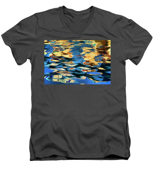 Men's V-Neck T-Shirt featuring the photograph Color Abstraction Lxix by David Gordon