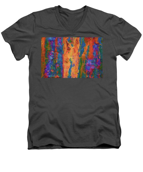 Color Abstraction Lxvi Men's V-Neck T-Shirt