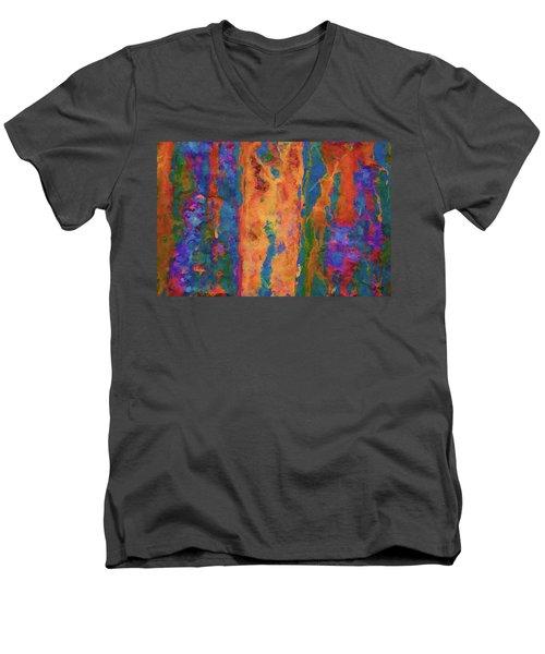 Color Abstraction Lxvi Men's V-Neck T-Shirt