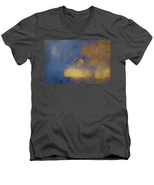 Color Abstraction Lxviii Men's V-Neck T-Shirt by David Gordon