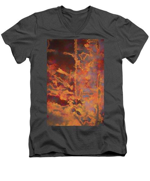Color Abstraction Lxxi Men's V-Neck T-Shirt by David Gordon