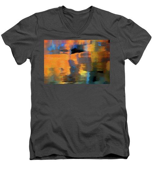 Color Abstraction Lxxii Men's V-Neck T-Shirt