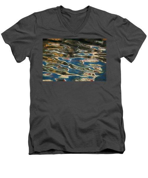 Color Abstraction Lxxv Men's V-Neck T-Shirt by David Gordon