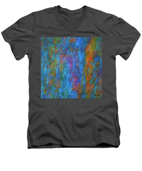 Color Abstraction Xiv Men's V-Neck T-Shirt by David Gordon