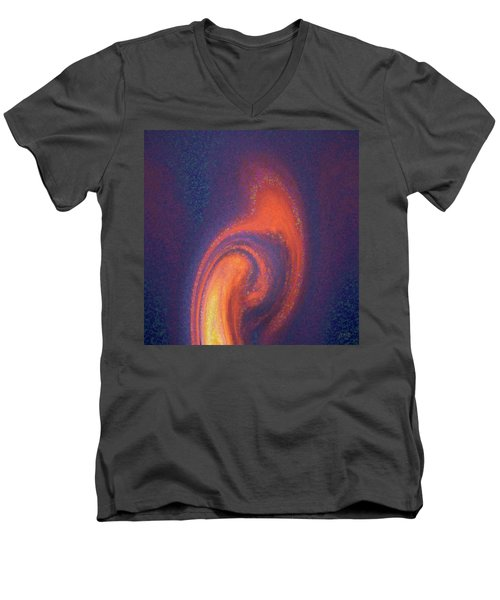Color Abstraction Xlii Men's V-Neck T-Shirt by David Gordon