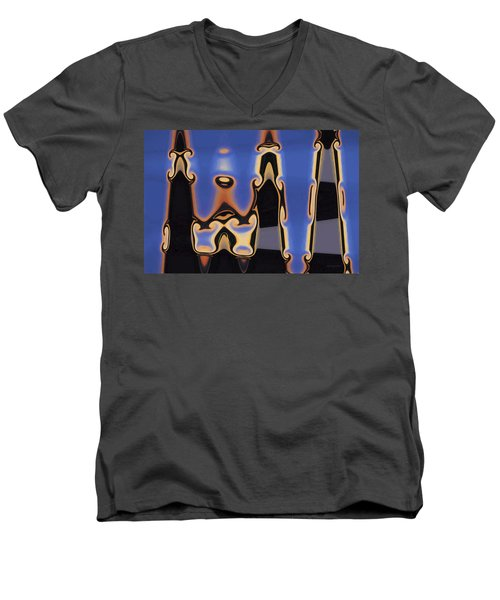 Color Abstraction Xliii Men's V-Neck T-Shirt