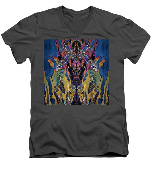 Color Abstraction Xxi Men's V-Neck T-Shirt
