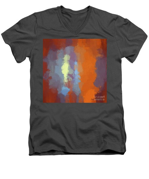 Color Abstraction Xxiii Sq Men's V-Neck T-Shirt