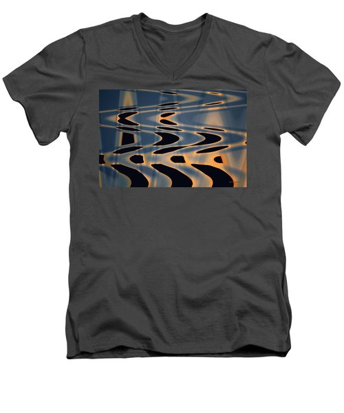 Color Abstraction Xxiv  Men's V-Neck T-Shirt by David Gordon