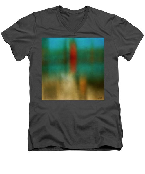 Color Abstraction Xxvi Men's V-Neck T-Shirt by David Gordon