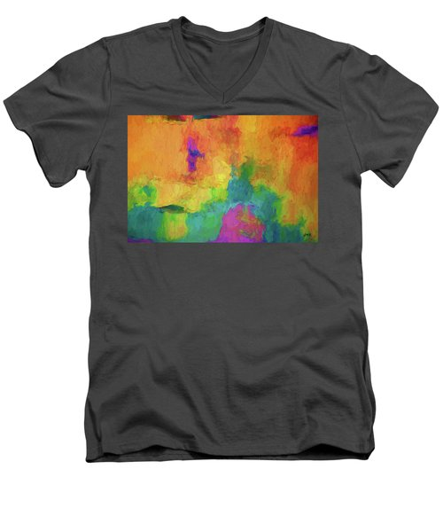Color Abstraction Xxxiv Men's V-Neck T-Shirt