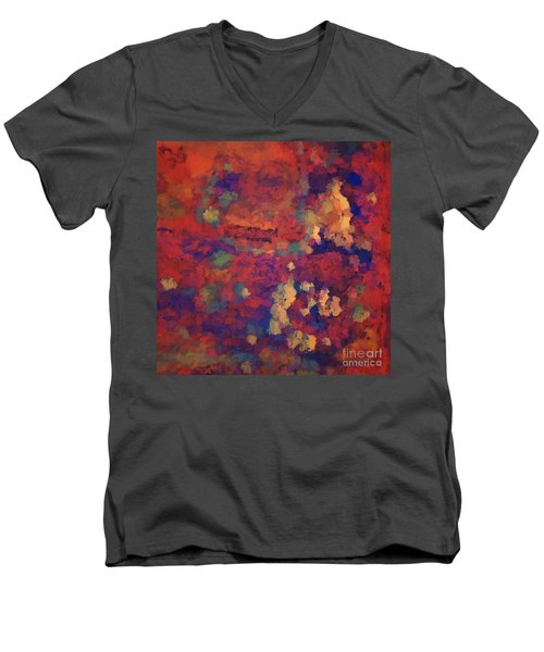 Color Abstraction Xxxv Men's V-Neck T-Shirt by David Gordon