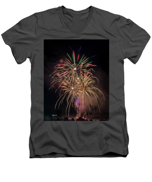 Men's V-Neck T-Shirt featuring the photograph Color And Chaos by Bill Pevlor