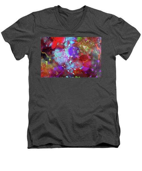 Color Burst Men's V-Neck T-Shirt by AugenWerk Susann Serfezi